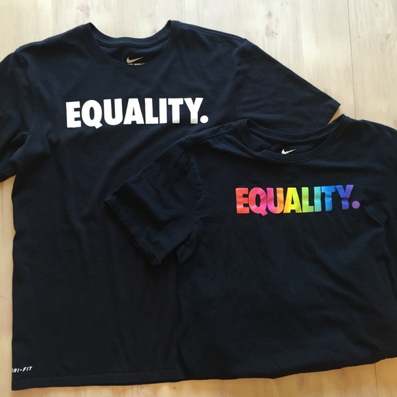 d8fc1611b Nike Tops   Dri Fit T Shirt Womens Equality Logo Sz M   Poshmark